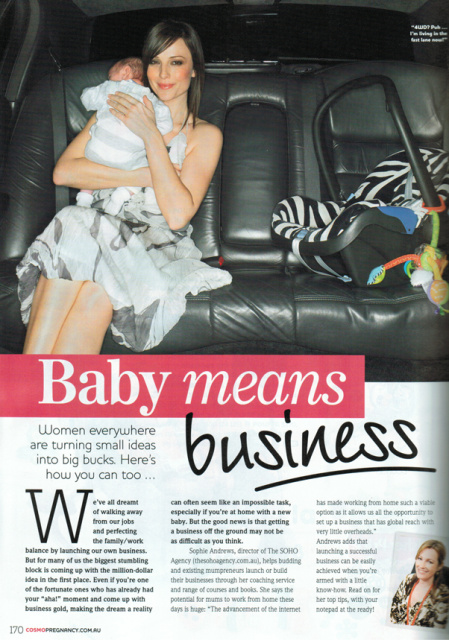 Baby means business – Cosmopregnancy