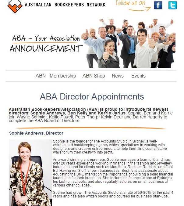 ABA Director Appointments – Sophie Andrews