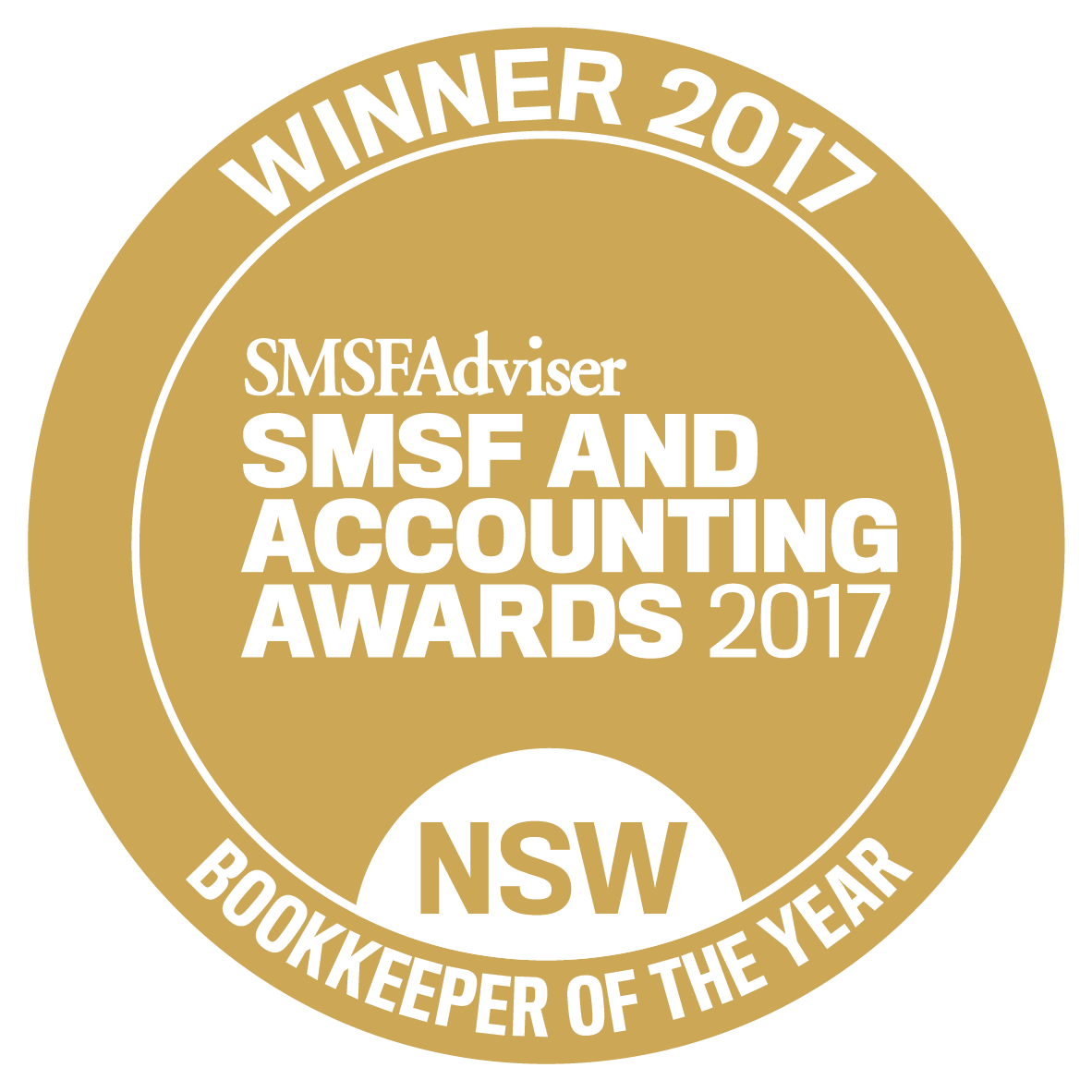 Winner 2017 SMSF Accounting Awards - Bookkeeper of the year